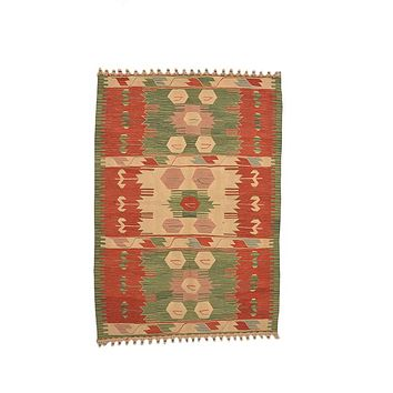 "Turkish Kilim Turkish 3' 10"" X 5' 4"" Handmade Rug"