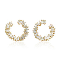 Spiral 18K Gold Diamond Earrings | Moda Operandi