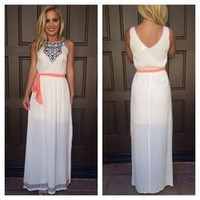 Acapulco Embroidered Maxi Dress