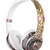 Gold and Black Unfocused Glimmering RainFall Full-Body Skin Kit for the Beats by Dre Solo 3 Wireless Headphones