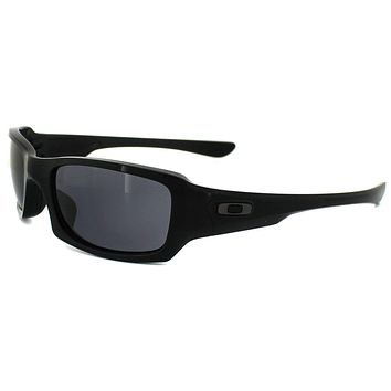 One-nice™ Oakley Sunglasses Fives Squared OO9238-04 Polished Black Grey