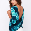 Only in Retro-spect Teal Tie-Dye Top