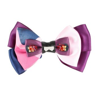 Licensed cool Steven Universe Faux Garnet Gem Love Cosplay Costume Hair Bow Ribbon Dress-Up