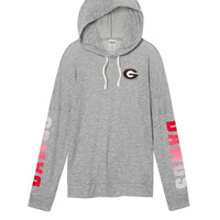 University Of Georgia Crossover Pullover Hoodie - PINK - Victoria's Secret