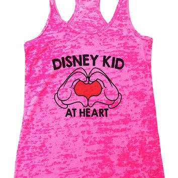 Disney Kid at Heart Burnout Tank Top By Funny Threadz