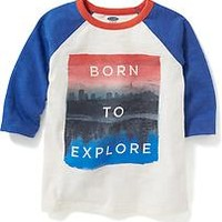 Raglan-Sleeve Graphic Tee for Toddler | Old Navy