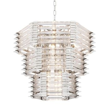 Glass Layered Chandelier | Eichholtz Wren