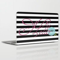 Modern Chic Floral Hello Laptop & iPad Skin by Doucette Designs