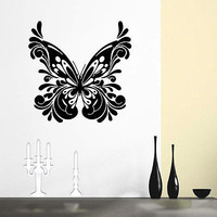 WALL DECAL VINYL STICKER ANIMAL BUTTERFLY DECOR SB555