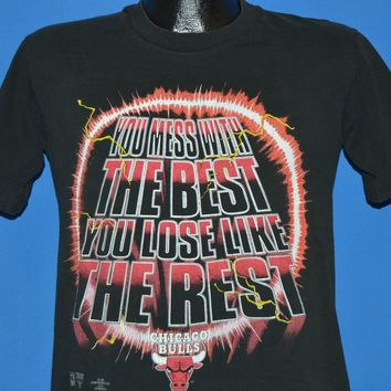 90s Chicago Bulls Mess With the Best Lose Like the Rest t-shirt Youth Extra Large