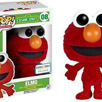 Funko Pop Sesame Street Elmo Exclusive Flocked Vinyl Figure