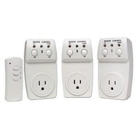 Etekcity Wireless Remote Control Electrical Outlet Switch for Household Appliances, White (Learning Code, 3Rx-1Tx)
