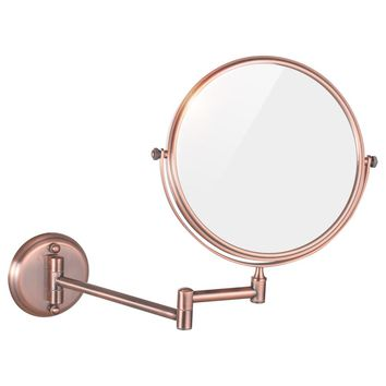 Gurun 8 Inch 5/7/10X Rose Gold Mirror Makeup 2 Side Cosmetic Mirror Shaving Mirror Compact Of Glass  bathroom wall Mirror 1306M