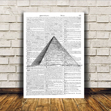 Egyptian art Pyramid print Modern decor Occult poster RTA194