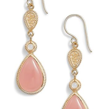 Anna Beck Guava Quartz & Moonstone Drop Earrings | Nordstrom
