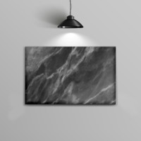 The Black and Chalky Whiet Marble Home Decor Stretched Wall Canvas
