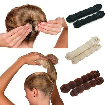 Women Girl Magic Style Hair Styling Tools Buns Braiders Curling Headwear Hair Rope Hair Band Accessories