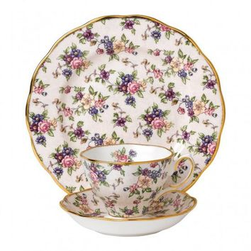 100 Years Of Royal Albert 1940 English Chintz 3-Piece Place Setting - Only 1 Set Available!