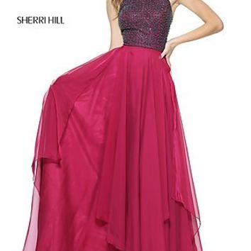 Sherri Hill Prom Dress with Beaded Bodice