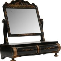 One Kings Lane - Chessy Rayner - Black & Gold Vanity Mirror