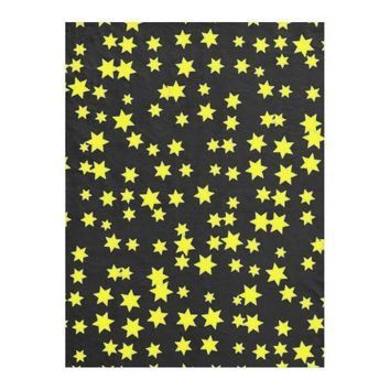 Yellow Stars Fleece Blanket