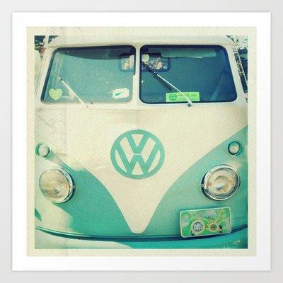 Sweet Ride Art Print by simplyhue | Society6