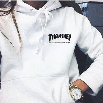 One-nice™ Thrasher Fashion Flame Hooded Top Sweater Pullover Hoodie
