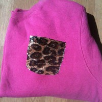 Hot Pink Cheetah Sweatshirt from Diamond Life Boutique