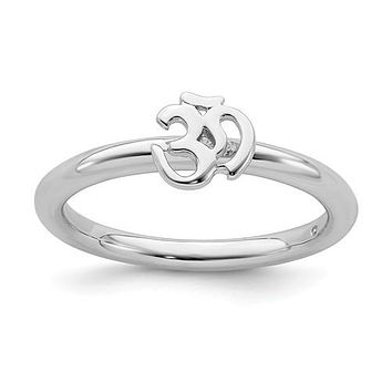 Sterling Silver Stackable Expressions Ohm Ring