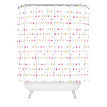 Laura Redburn Dot Dot Chevron Shower Curtain