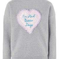 **'Better Days' High Neck Jumper by Tee & Cake