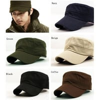 Unisex Military Army Cap Hot Castro Cadet Patrol Hat Adjustable Retro [10584519503]