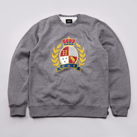 Flatspot - Huf Crested Crewneck Sweatshirt Gun Metal Heather