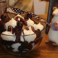 Hot Fudge Brownie Sundae Bowl Candle | CountryCraftsandCandies - Candles on ArtFire