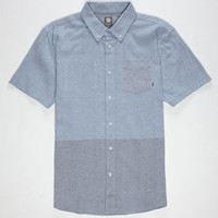 Element Halfer Mens Shirt Blue/Grey  In Sizes