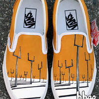 Hand Painted Muse Origin of Symmetry Shoes size 7 mens / 8.5 womens