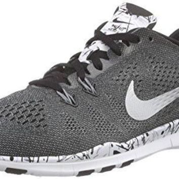 Nike Womens Free 5.0 Tr Fit 5 Prt Training Shoe (8 B(M) US, Black/Mtllc Slver/White/Cl