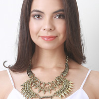 Pyramid Accent Statement Necklace