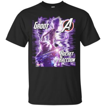 GROOT : ROCKET RACCOON : AVENGERS : INFINITY WAR : 1 Cotton T-Shirt