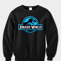 Jurassic World Blue Logo 345 Sweater Man and Sweater Woman