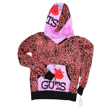 Holly Hue x I Heart Guts Hoodie - Women's Large - Pink Animal Print