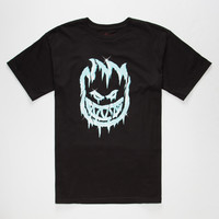 Spitfire Iced Out Mens T-Shirt Black  In Sizes