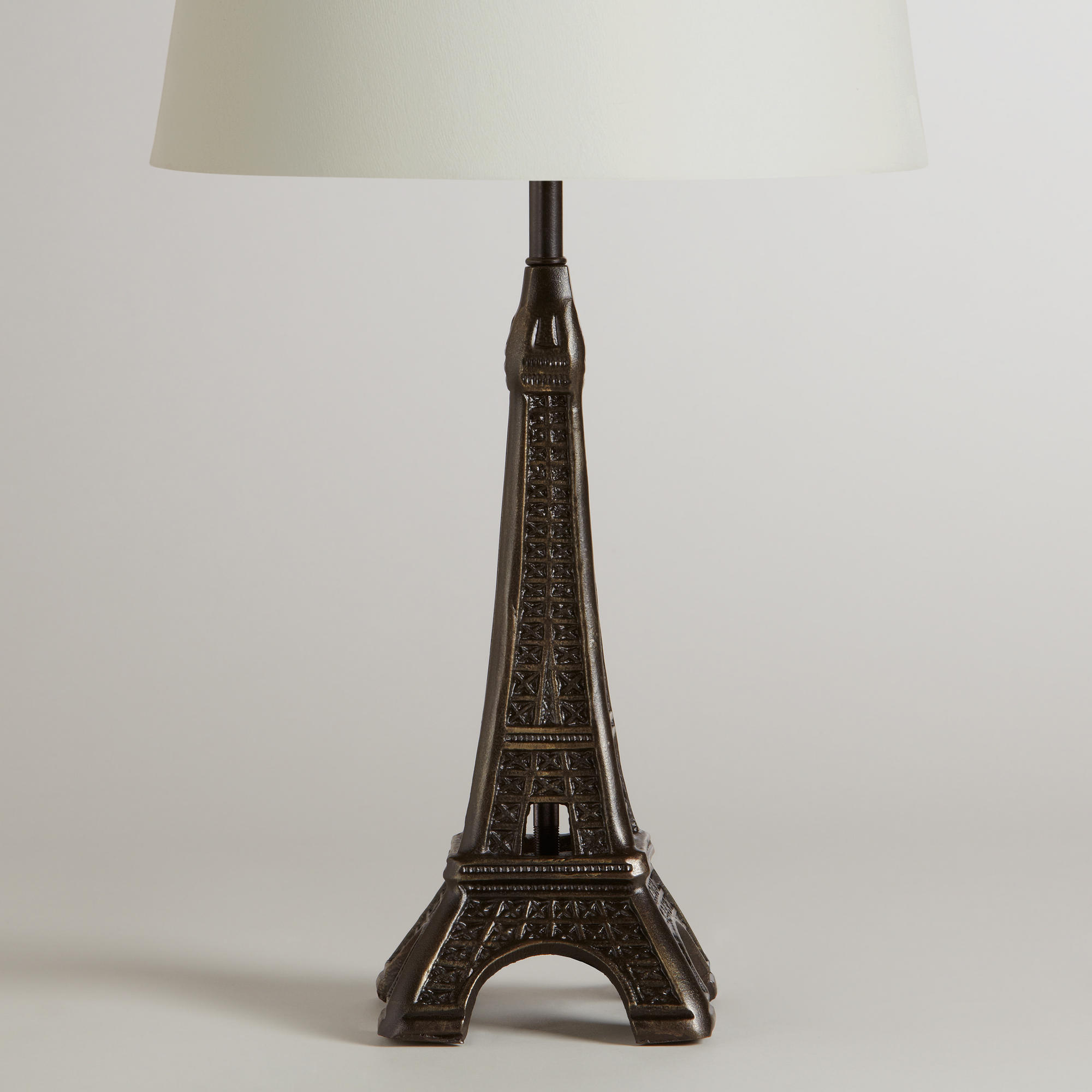 eiffel tower accent lamp base world from cost plus world market. Black Bedroom Furniture Sets. Home Design Ideas