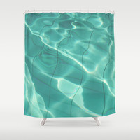 Water Shower Curtain by Lena Weiss