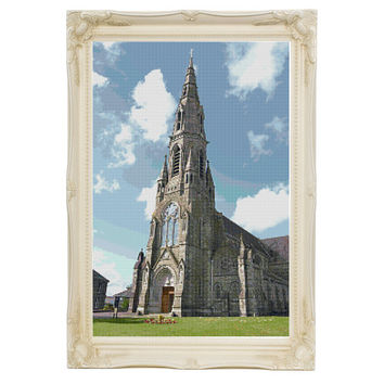 St Patrick's Church Trim Ireland Cross Stitch Pattern