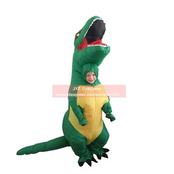Kids Inflatable costume Dinosaur Costume Dino Suit cartoon characters fancy dress T-Rex Costume Blow Up animal mascots Cosplay