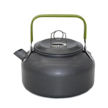 DCCKJG2 New 1 PC 1.2L Aluminum Tea Kettle Cookware Set Camping Pot Teapot Use For Outdoor Camping  Cooking Tools VEO69 T0.3