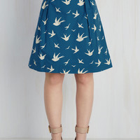 Trendsetting the Scene Skirt in Swallows