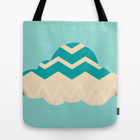 Chevron Cloud Tote Bag by Laura Santeler