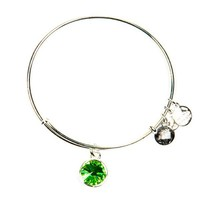 Alex and Ani August Birthstone Charm Bangle - Shiny Silver